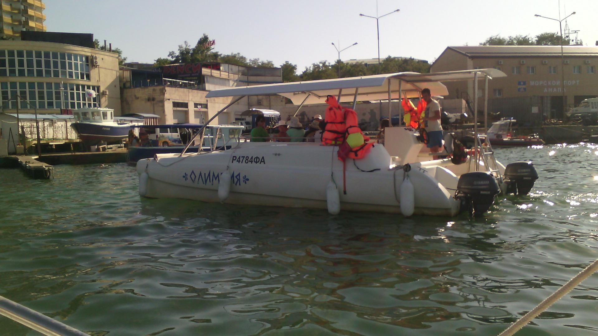 Катер в Анапе для морской рыбалки